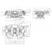 "F4C1G70 Седельно-сцепное устройство V.ORLANDI, 350мм, гп 40тн, замок на 4"""