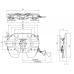 "F2T3G50 Седельно-сцепное устройство V.ORLANDI, 250мм, гп 24тн, замок на 2"""